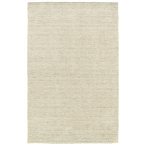 Handwoven Plush Wool Heathered Beige Rug (8' X 10') - 8' x 10'