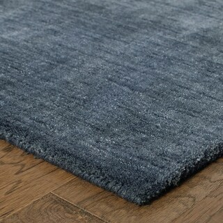 Heathered Solid Hand-crafted Plush Wool Area Rug - 8' x 10'
