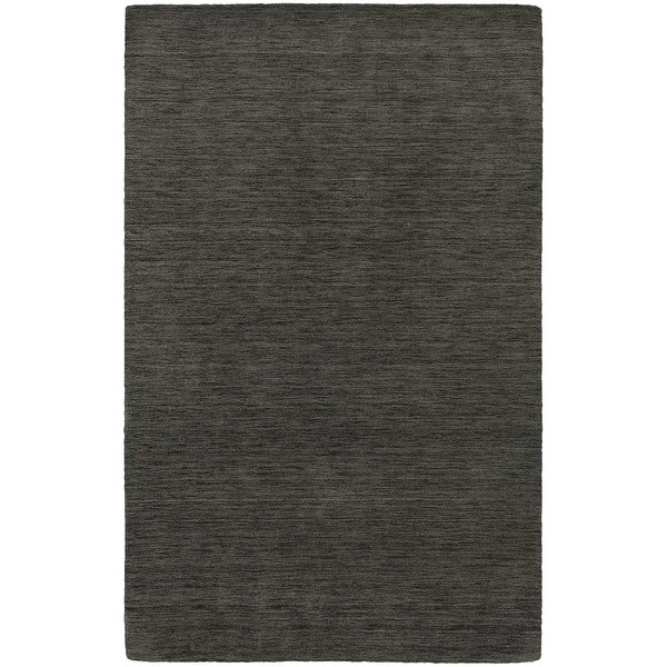 Handwoven Plush Wool Heathered Charcoal Rug (8' X 10') - 8' x 10'