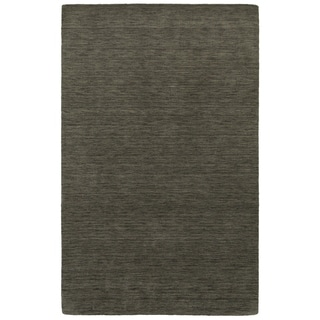 Handwoven Plush Wool Heathered Charcoal Rug (8' X 10') - 8' x 10'