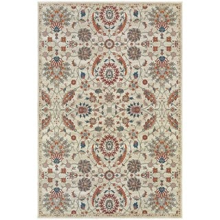 "Updated Traditional Floral Beige/ Multi Rug (9'10"" X 12'10"")"