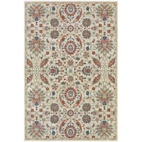 """Updated Traditional Floral Beige/ Multi Rug - 9'10"""" X 12'10"""""""
