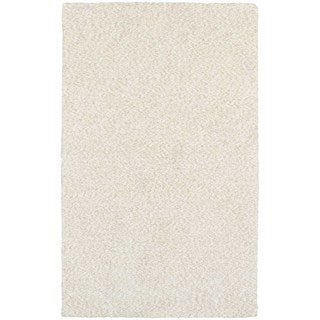 Cozy Indulgence Heathered Ivory Shag Rug (10' X 13')