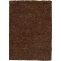 Cozy Indulgence Heathered Brown Shag Rug - 10' x 13'
