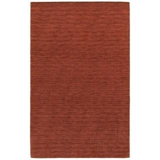 Handwoven Plush Wool Heathered Red Rug (10' X 13') - 10' x 13'