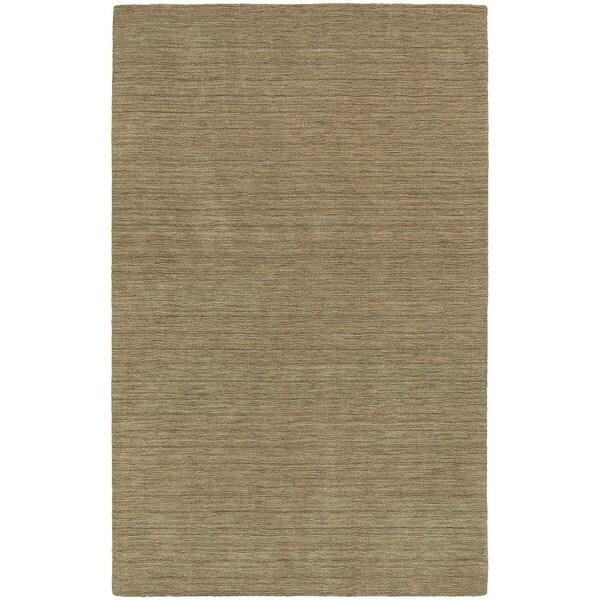 Handwoven Plush Wool Heathered Gold Rug (10' X 13') - 10' x 13'