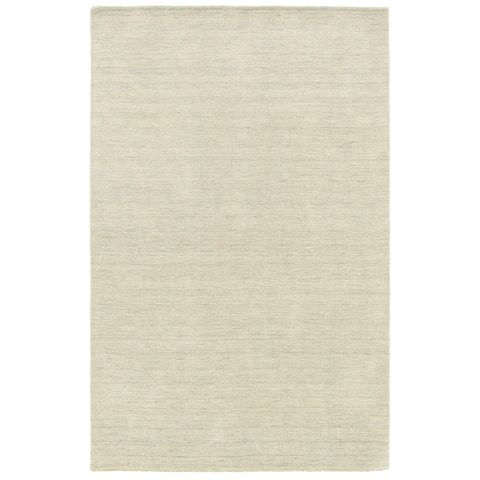 Handwoven Plush Wool Heathered Beige Rug (10' X 13') - 10' x 13'