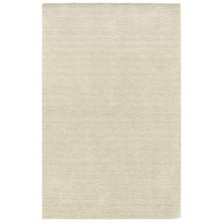 Handwoven Plush Wool Heathered Beige Rug (10' X 13') - 10' x 13'