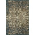 """Faded Traditional Beige/ Blue Rug (6'7"""" X 9'6"""")"""