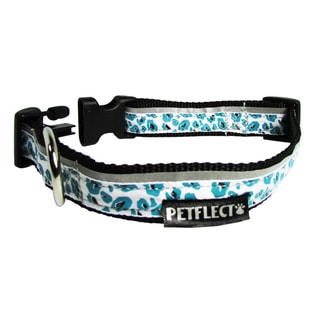 Petflect Turquoise Cheetah Reflective Dog Collar