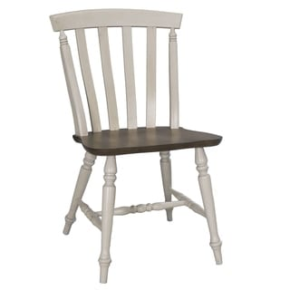 Fresco Two-Tone Transitional Slat Back Dining Chair