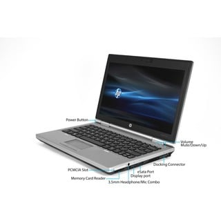 HP Elitebook 2570P Intel Core i5-3360M 2.8GHz 3rd Gen CPU 8GB RAM 256GB SSD Windows 10 Pro 12.5-inch Laptop (Refurbished)