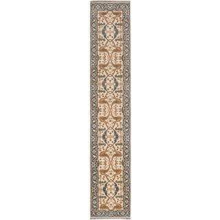 Ecarpetgallery Royal Ushak Beige/ Brown/ Green Wool Area Rug (2' x 13')