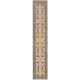 Ecarpetgallery Royal Ushak Beige/ Brown/ Green Wool Area Rug (2' x 13')