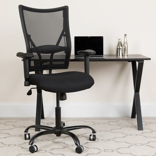 Hercules Series 400-pound Capacity Big and Tall Black Mesh Office Chair with Arms