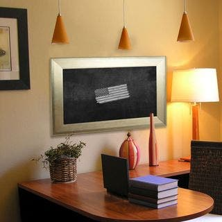 American Made Rayne Brushed Silver Blackboard/Chalkboard|https://ak1.ostkcdn.com/images/products/10633671/P17702318.jpg?impolicy=medium