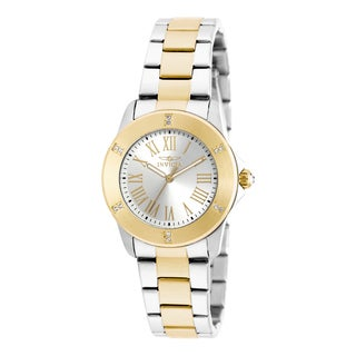 Invicta Women's 19256 Angel Quartz 3 Hand Silver Dial Watch