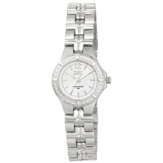 Invicta Women's 0129 Wildflower Quartz 3 Hand White Dial Watch