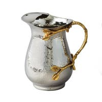 Heim Concept Gilt leaf Hammered Stainless Steel Water Pitcher