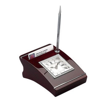 Heim Concept Wood Clock with Cardholder