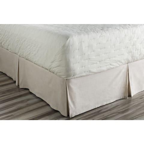 Shelia Solid Ivory Linen/Cotton Bedding Skirt