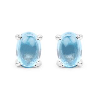 Olivia Leone 1.40 Carat Genuine Swiss Blue Topaz .925 Sterling Silver Earrings