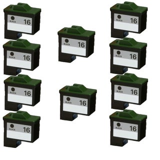 10PK 10N0016 ( #16 ) Compatible Ink Cartridge For Lexmark X75 X1150 X1185 X1270 X2250 (Pack of 10)