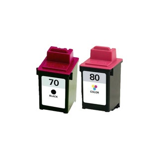 2PK 12A1970 ( #70 ) 12A1980 ( #80 ) Compatible Ink Cartridge For Lexmark X125 X4212 X4250 X4270 X63 X73 X83 X85 (Pack of 2)