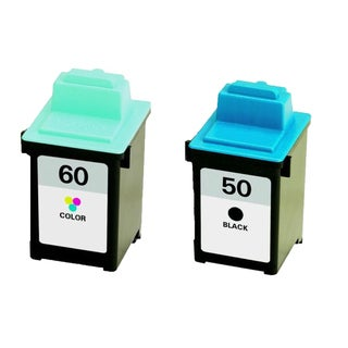 2PK 17G0050 ( #50 ) 17G0060 ( #60 ) Compatible Ink Cartridge For Lexmark P3150 Z705 Z710 Z715 (Pack of 2)