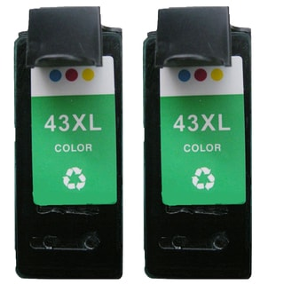 2PK 18Y0143 (#43) Compatible Ink Cartridge For Lexmark X4850 X4875 ( Pack of 2 )
