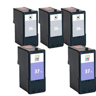 5PK 3x 18C2170 (#36) 2x 18C2180 (#37) Compatible Ink Cartridge For Lexmark X3650 Lexmark X4650 Lexmark X5650 ( Pack of 5 )
