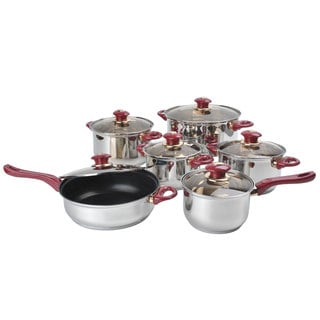 Stainless Steel Capsulated 12-Piece Cookware Set