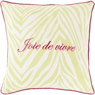 Decorative Claire French 22-inch Throw Pillow