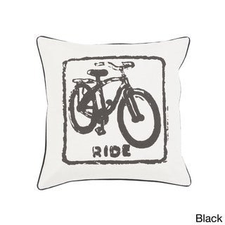 Decorative Delbert Bicycle Printed 22-inch Pillow