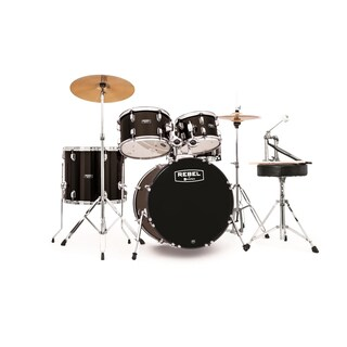 MAPEX REBEL 5PC with HDWR/CYMBLS 20/10/12/14FT/5X14 BLACK