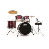 MAPEX REBEL 5PC with HDWR/CYMBLS 20/10/12/14FT/5X14 RED