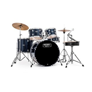 MAPEX REBEL 5PC with HDWR/CYMBLS 20/10/12/14FT/5X14 BLUE