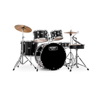 MAPEX REBEL 5PC with HDWR/CYMBLS 22/10/12/16FT/5X14 BLACK