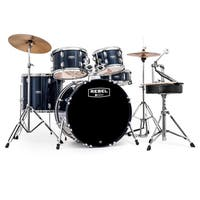 MAPEX REBEL 5PC with HDWR/CYMBLS 22/10/12/16FT/5X14 BLUE