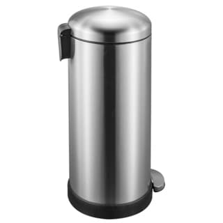 JoyWare 7.9 Gallon (30 liter) Round Shape Retro Look Stainless Steel Trash Can