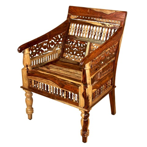 Porter Maharaja Hand-carved Solid Sheesham Chair (India)