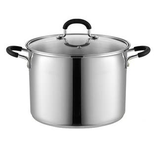 Cook N Home 02440 Stockpot Saucepot with Lid, Induction Compatible, 8 Qt Stainless steel|https://ak1.ostkcdn.com/images/products/10633967/P17702577.jpg?impolicy=medium