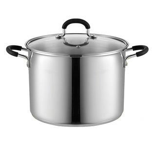 Cook N Home 8-Quart Stockpot Saucepot with Lid, Induction Compatible, Stainless steel