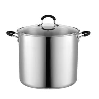 Cook N Home 02441 Stockpot Saucepot with Lid Induction Compatible, 12 Qt, Stainless Steel