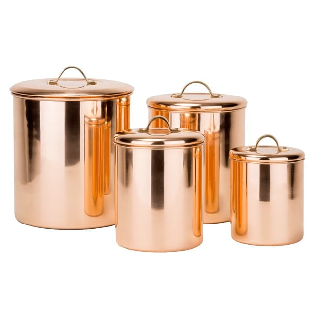 Old Dutch 4-piece Polished Copper Canister Set (4 Piece P...