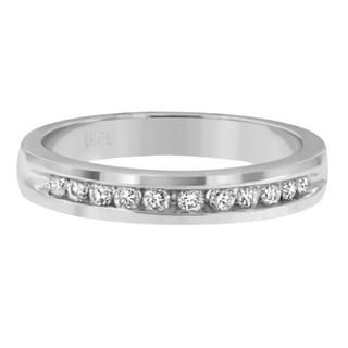 18k White Gold 1/4ct TDW Diamond Ring (E-F, I1-I2)