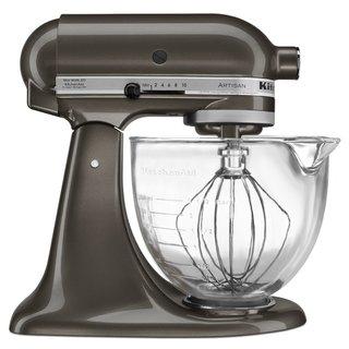 KitchenAid KSM155GBTD Truffle Dust 5-quart Design Series Mixer, Glass Bowl with $50 Rebate