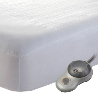 Shop Sunbeam Quilted Poly Twin Xl Heated Electric Mattress