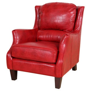 Porter Garnett Red Bonded Leather Accent Chair