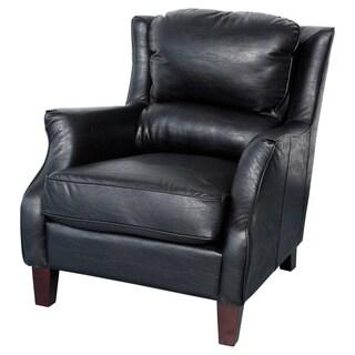 Porter Garnett Black Bonded Leather Accent Chair